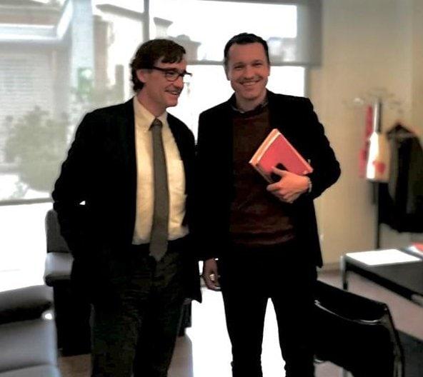 Òscar Ordeig explica al nou ministre la situació de la sanitat a la Seu i l'Alt Urgell