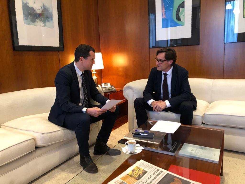 El ministre Illa es compromet amb el diputat Ordeig a tancar un acord amb Meritxell