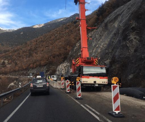 Reparar el tram afectat per despreniments de l'N-260, al Pont de Bar, costarà 330.000 euros