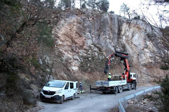 Ribera d'Urgellet protegeix el talús de la carretera a Torà de Tost