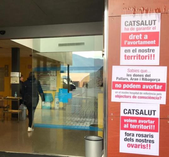 Als hospitals del Pallars i de l'Alt Urgell no es pot avortar