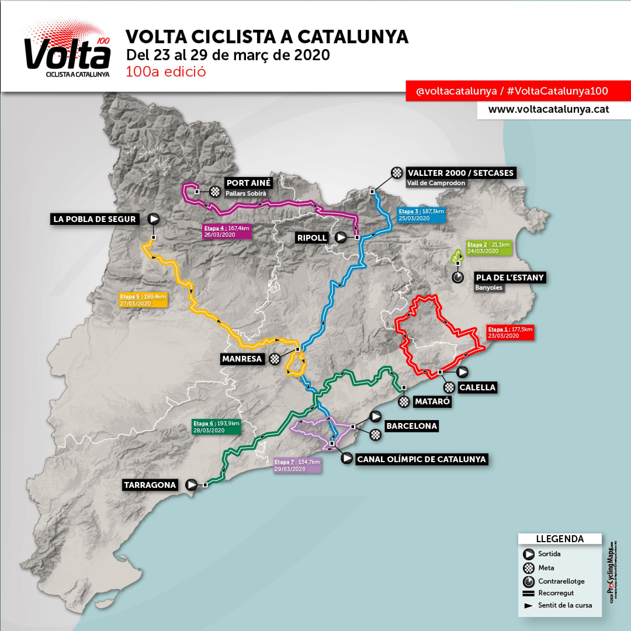 Suspesa la Volta Ciclista a Catalunya a causa del coronavirus