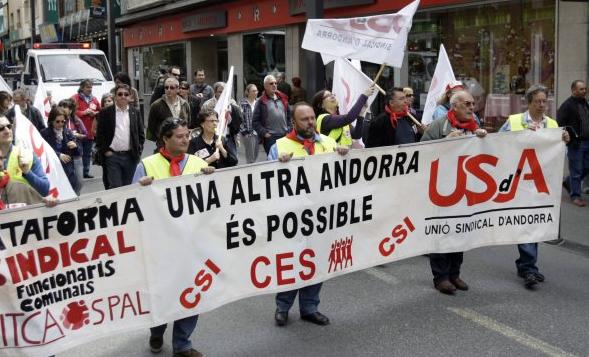"""Manifest de l'1 de maig: La crisi del coronavirus evidencia """"la fal·làcia de l'oasi andorrà"""""""