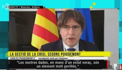 Puigdemont planteja una manifestació massiva amb distanciament durant la Diada
