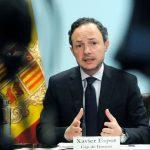 Xavier Espot s'abaixarà el sou un 20% i els ministres un 15% davant la crisi econòmica