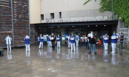 Revolta sanitària: concentracions als hospitals exigint el 5% i l'alcalde de la Seu, Jordi Fàbrega, desaparegut