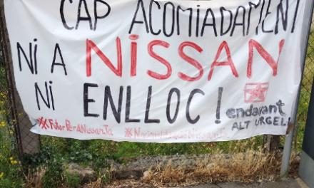 La Seu d'Urgell plena de pintades per denunciar la gravetat de l'actual crisi econòmica i social