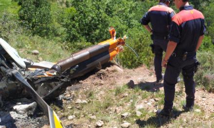 Dos morts per un helicòpter, enlairat a l'aeroport de la Seu, que s'ha estavellat a la Vansa i Fórnols