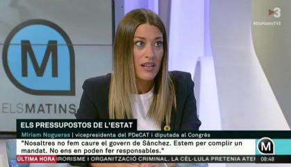 Miriam Nogueras deixa la vicepresidenta del PDeCat