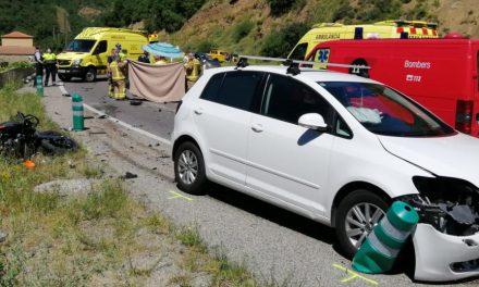 Mor un motorista en topar amb un cotxe andorrà a l'N-260 al terme del Pont de Bar, a l'Alt Urgell