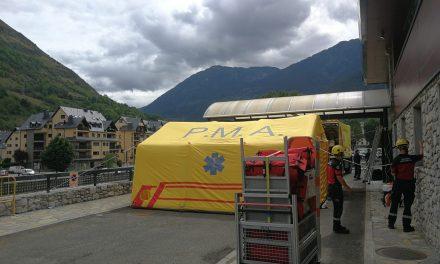 El Conselh Generau d'Aran construeix un hospital de campanya per la manca d'espai a urgències de l'Espitau Val d'Aran