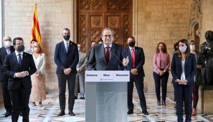 """Torra s'acomiada de la presidència fent una crida a la """"ruptura pacífica"""""""