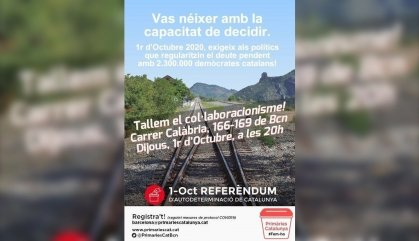 """Primàries crida a concentrar-se a les seus del PDECat i ERC per acusar-los de """"col·laboracionisme"""""""
