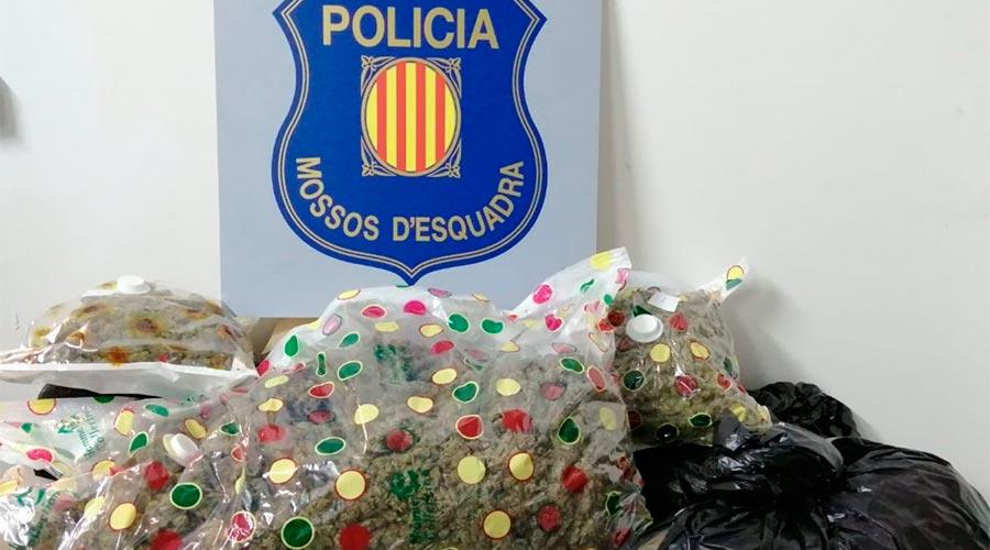 Els Mossos detenen dos homes que transportaven 15,5 quilos de marihuana al Pont de Suert