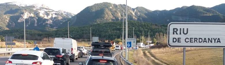 Cues de quilòmetres al túnel del Cadí per voler accedir a la Cerdanya